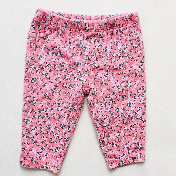 Carter's Pink Floral Leggings